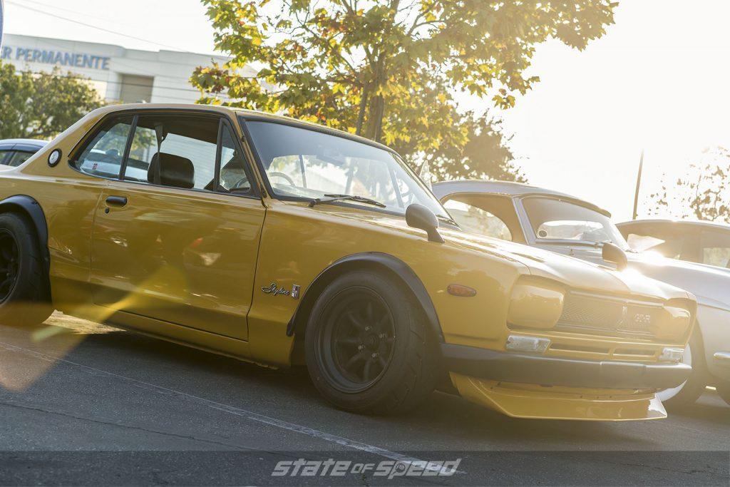 Classic Datsun at a car meet