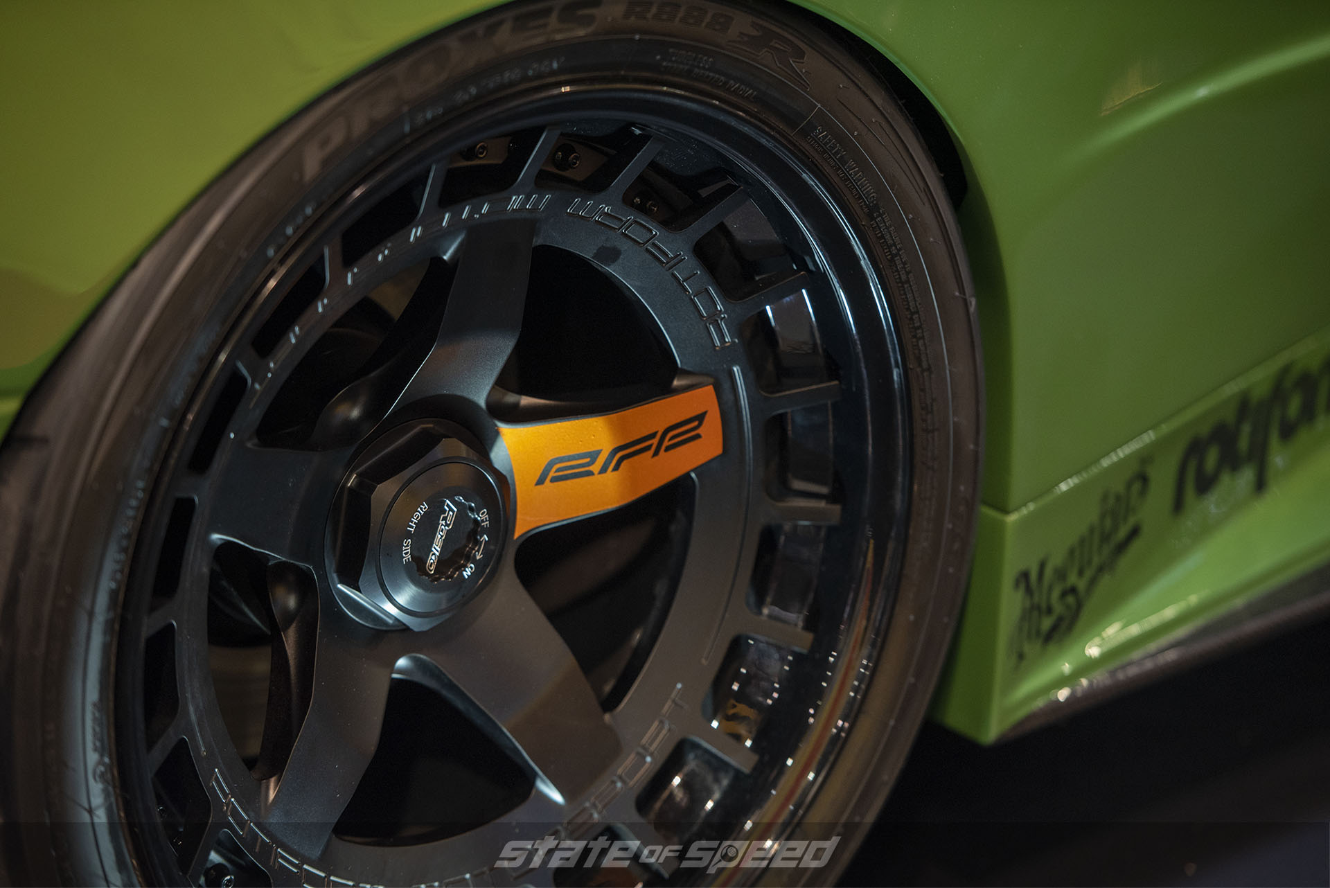 Rebellion Forge Racing BMW E30 at Meguiar's Booth for SEMA 2019 with Rotiform wheels