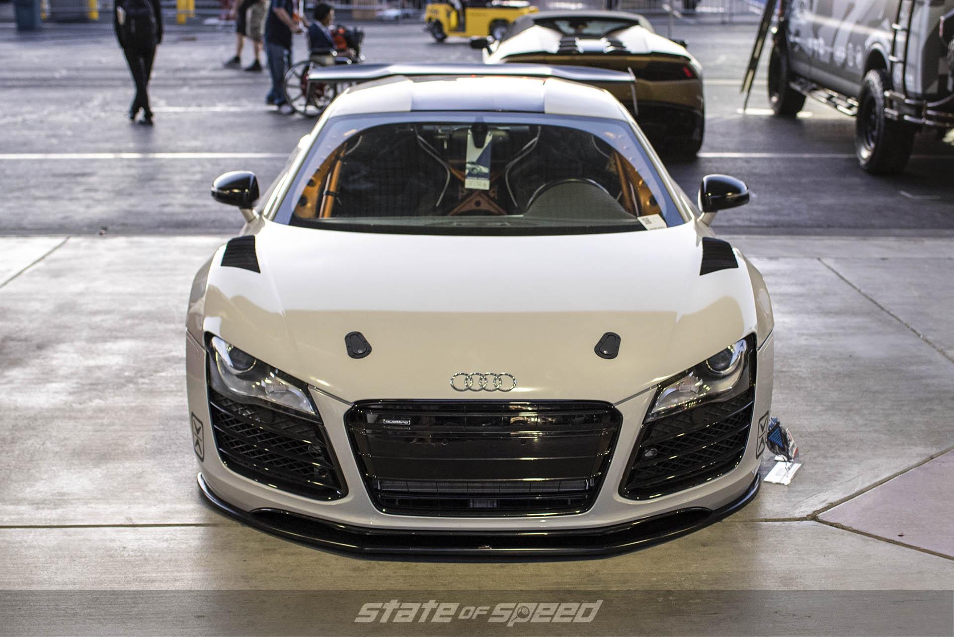 Audi R8 build at the SEMA show in Las Vegas