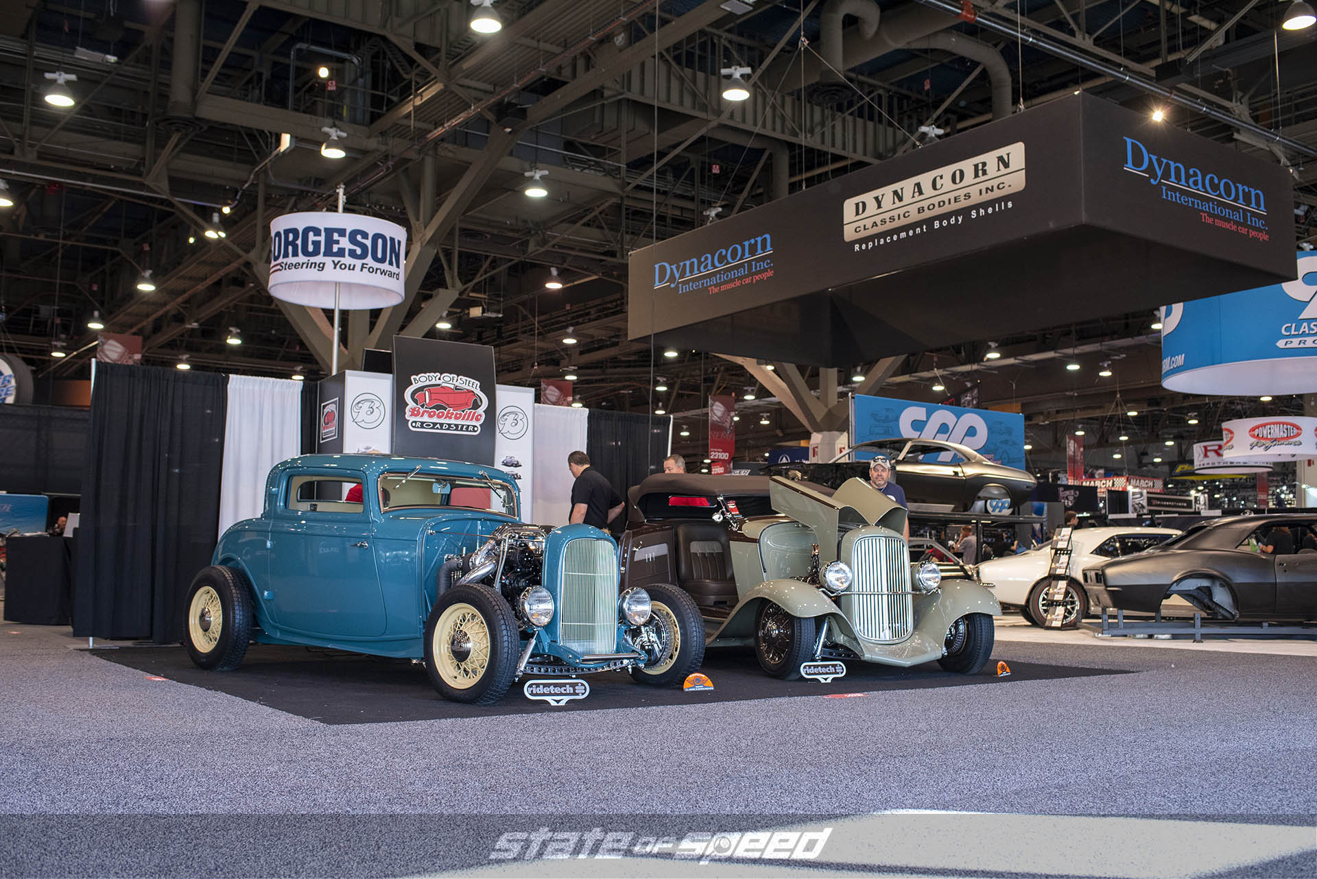 Ford coupe with a Cummins swap by Brookville Roadster Inc. at The SEMA Show