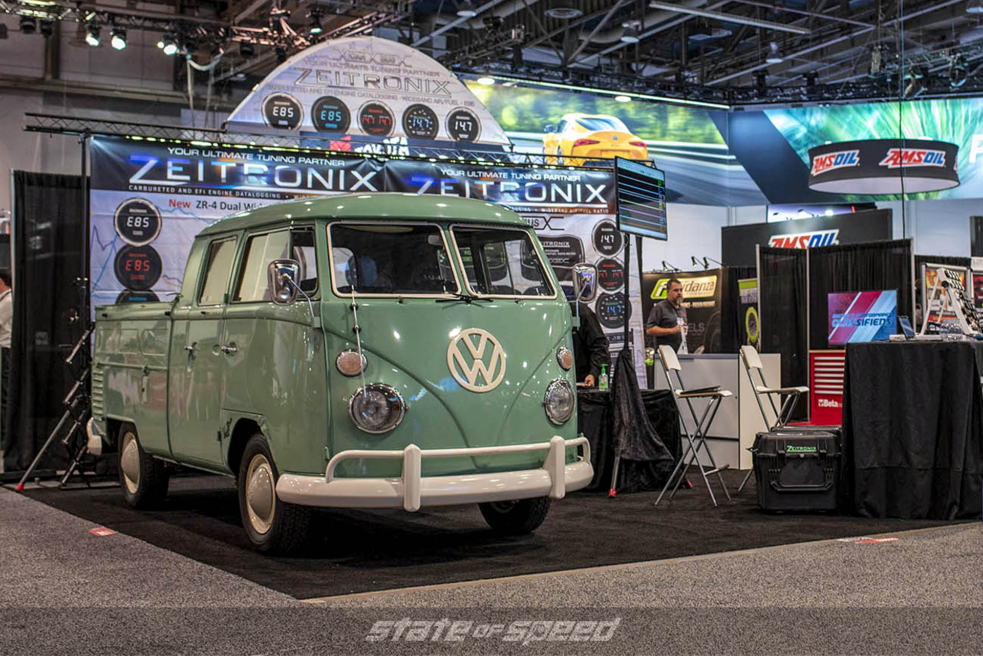 Volkswagen Transporter pickup at the Seitronix booth at SEMA