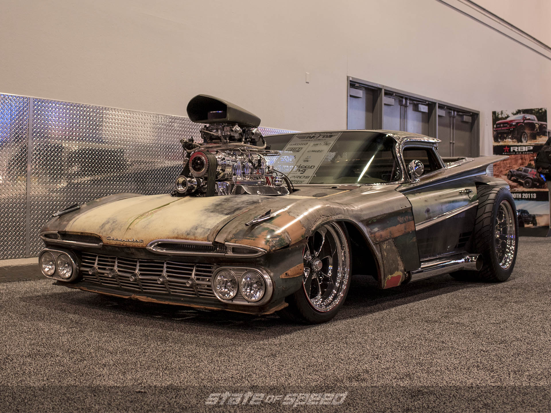 Chopped classic Impala at SEMA 2019