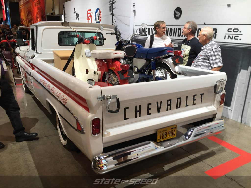 '61 Chevy Apache with Honda 50 and cb150