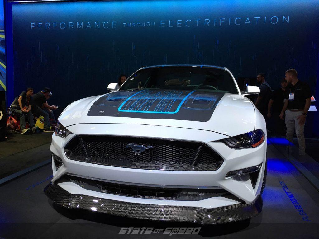 All Electric Mustang at SEMA