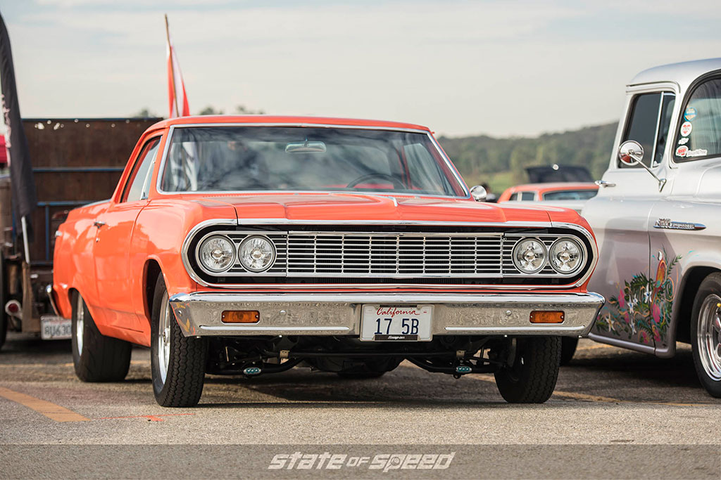 64 orange Chevy el Camino