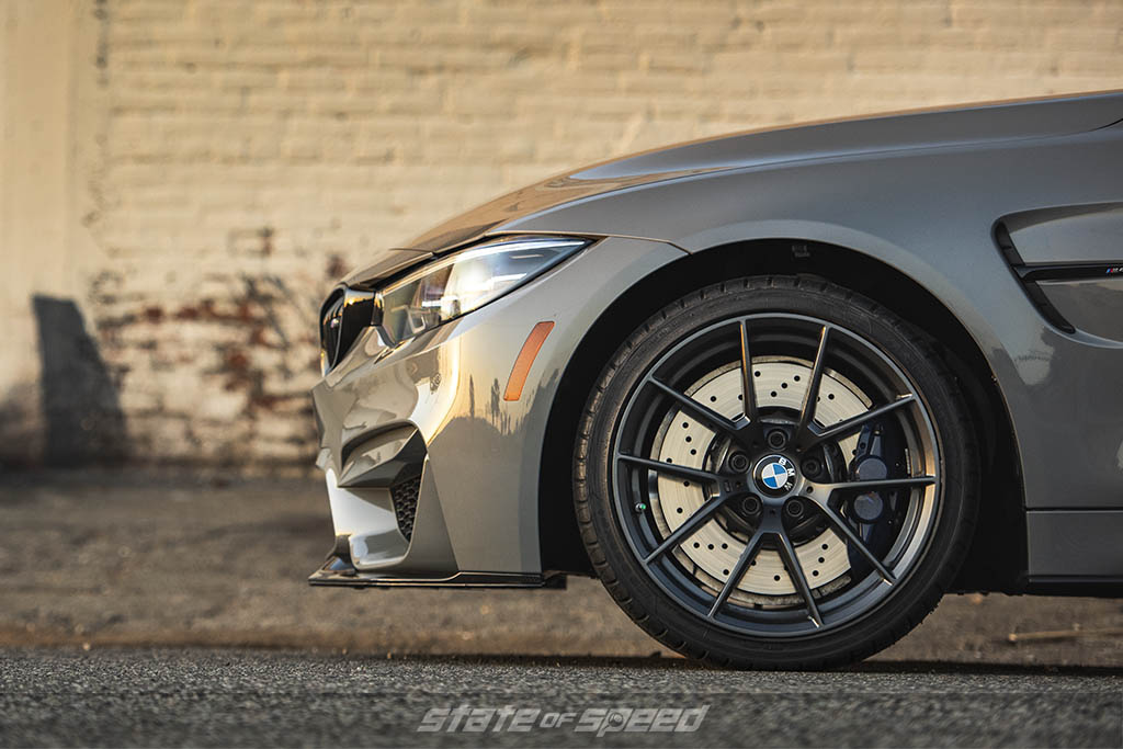 BMW M4 with big brakes