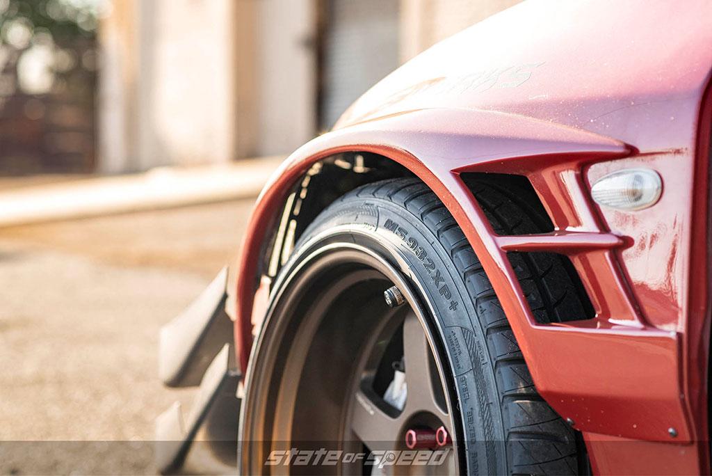 evo IX with milestar tires