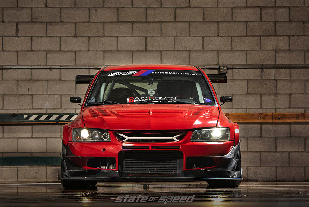 front end of evo IX