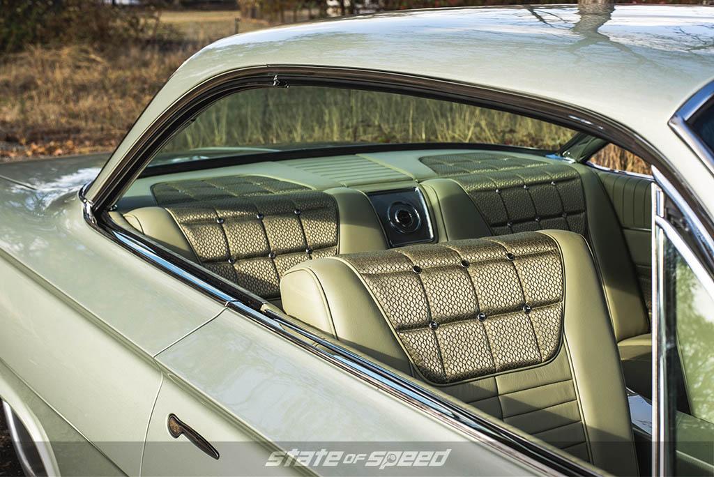 Custom interior in the '61 Impala