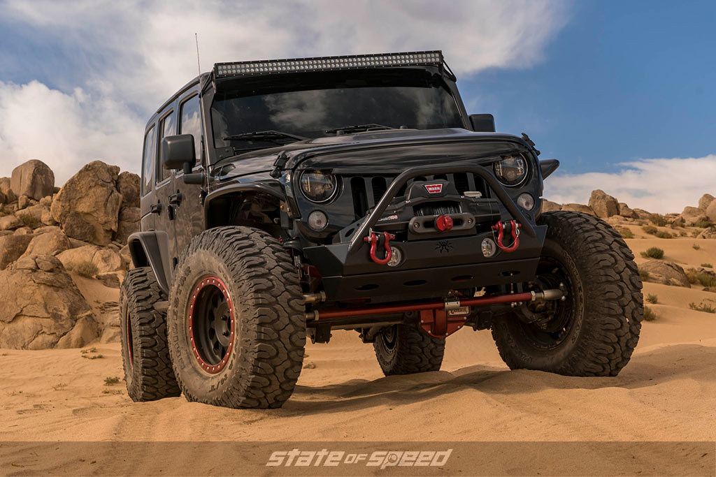 Jeep JK built for offroading