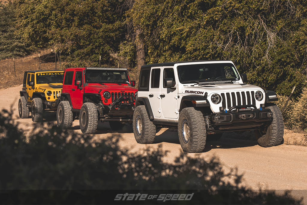 Lineup of Jeeps