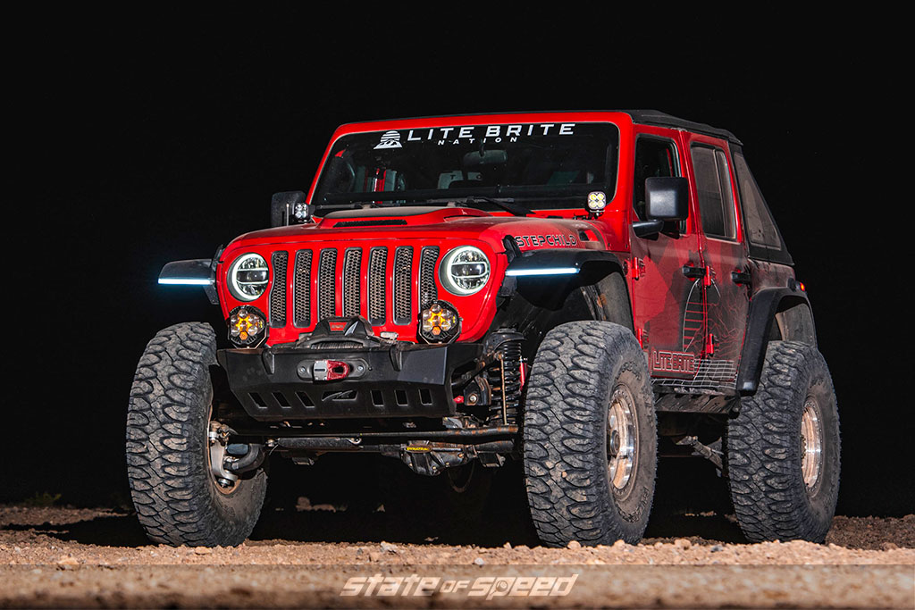 "Lite Brite ""Stepchild"" Jeep JL with Patagonia MT"