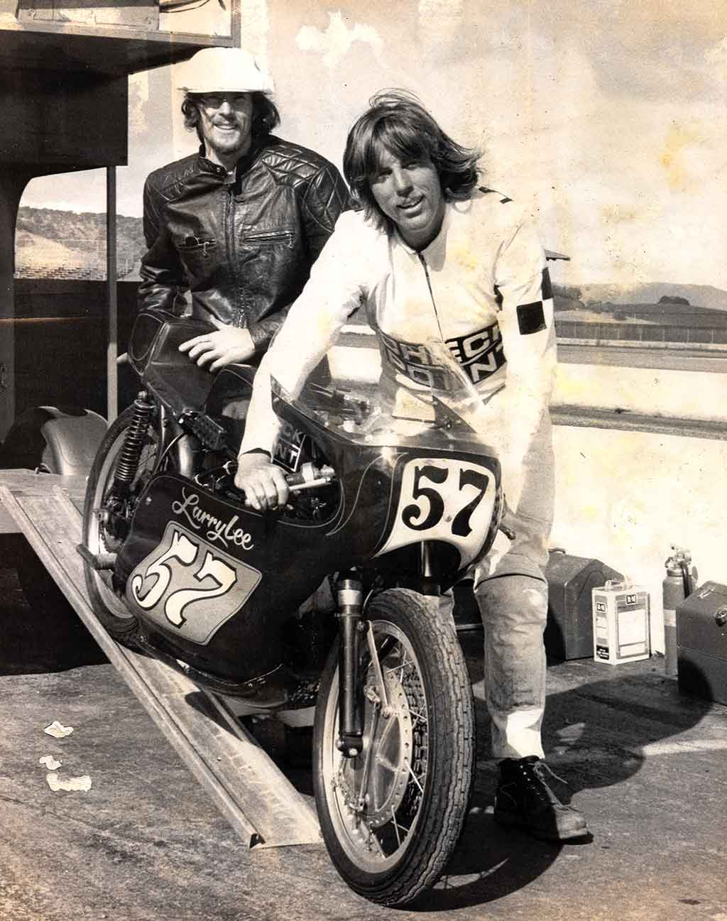 Larry Lee with his racing bike