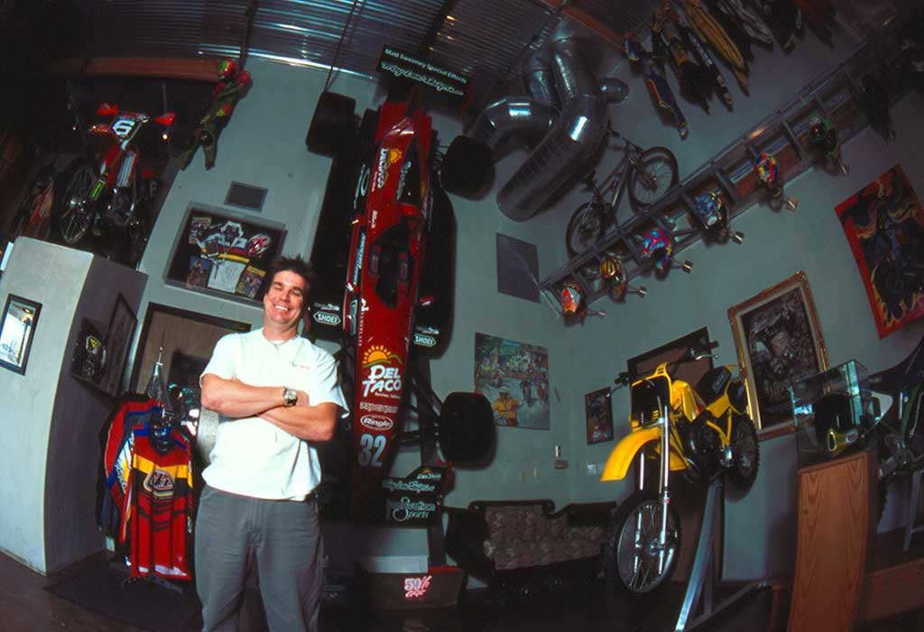 Troy Lee at his shop in Corona