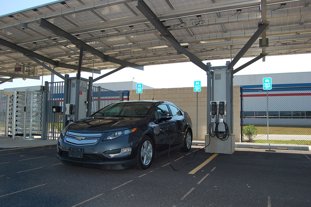 GM Electric charging stations