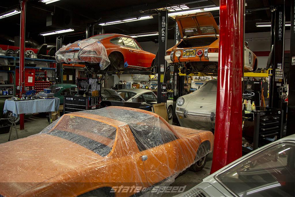 Porsche restoration shop Benton