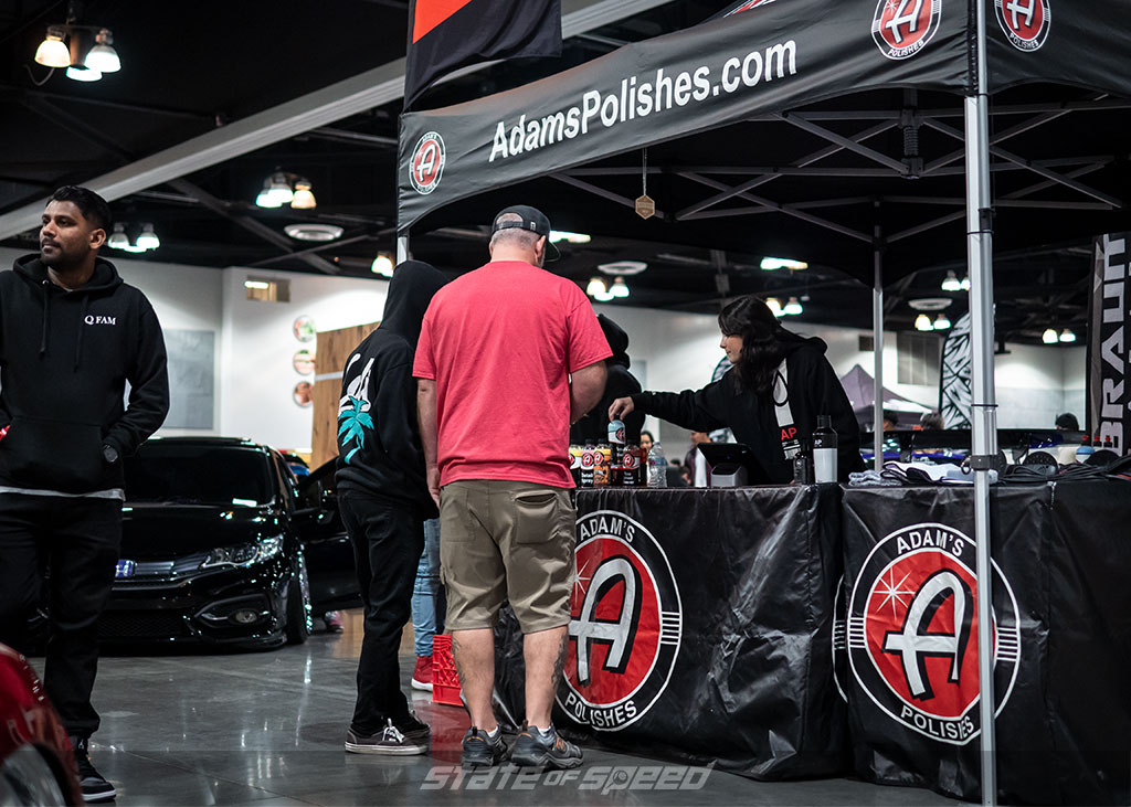 Adams Polishes booth at the car show