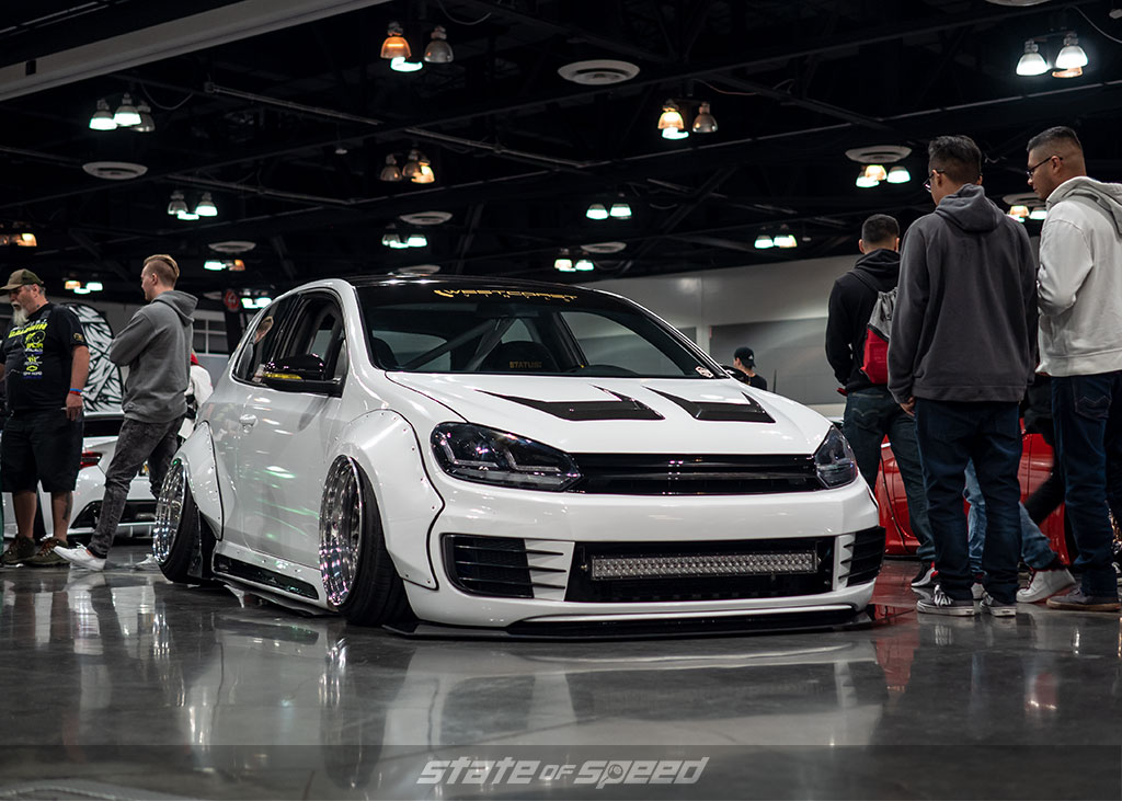 Slammed and widebody VW MK6 GTI with Pandem kit