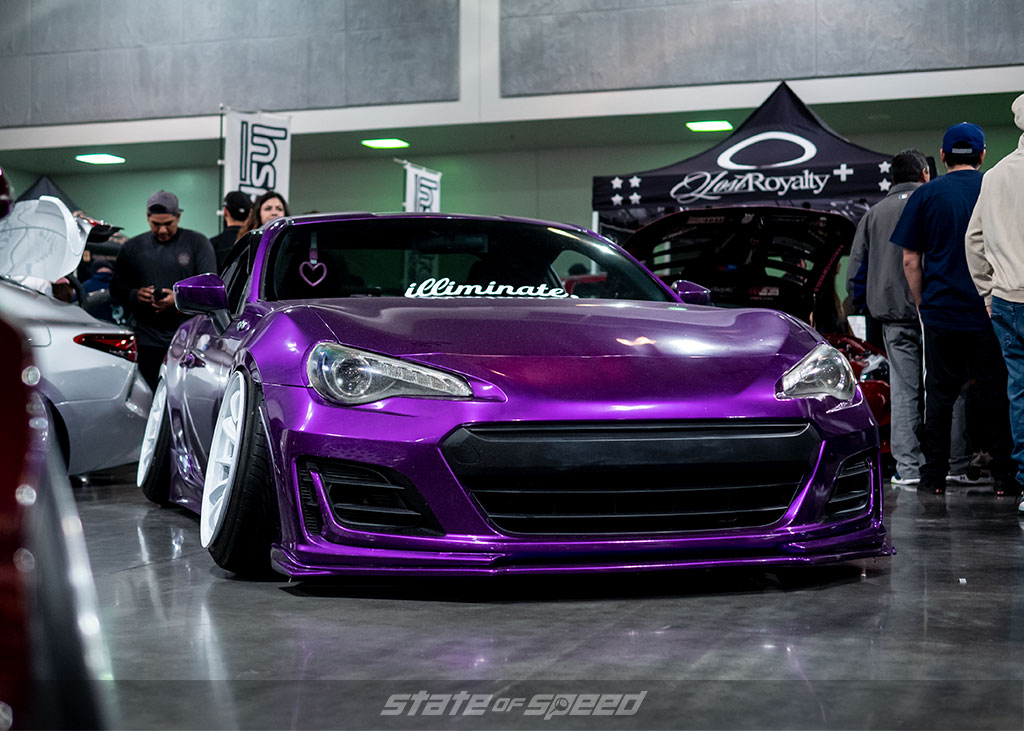 Randy Truong's Purple BRZ by the Illiminate crew at Slammedenuff Socal 2020