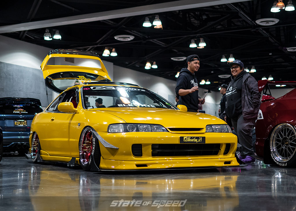 Slammed Honda Integra on Nankang tires at Slammedenuff Socal 2020