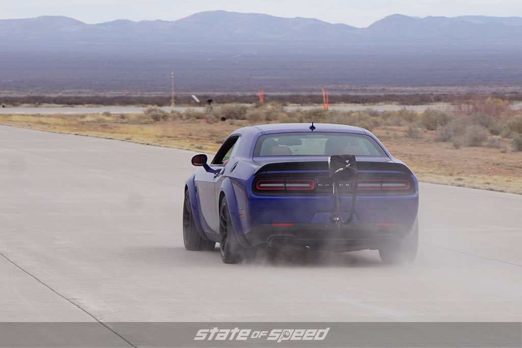 Blue Dodge SRT Hellcat at Spaceport America