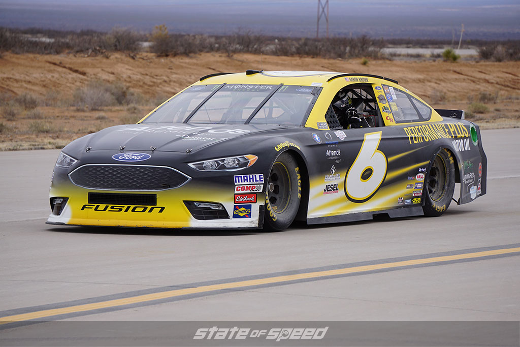 NASCAR Stock car at Spaceport America