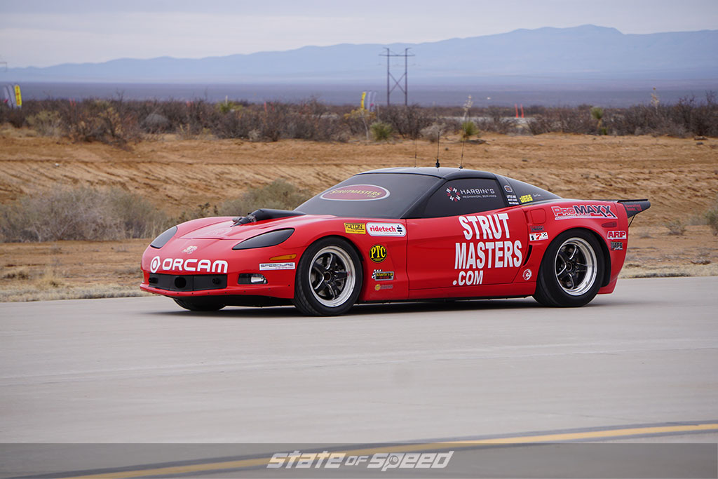 Dan Parker's corvette at Spaceport America
