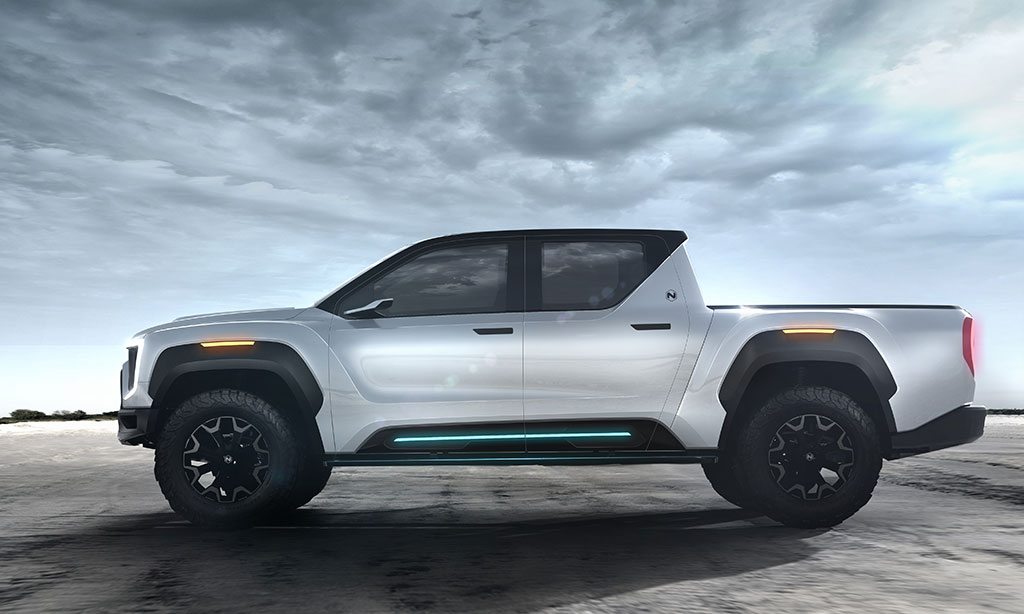 electric truck profile