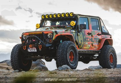 KC Hilites Orange and GreenJeep JK