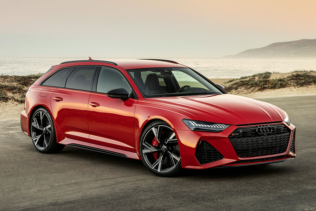 New Audi RS6 at the beach