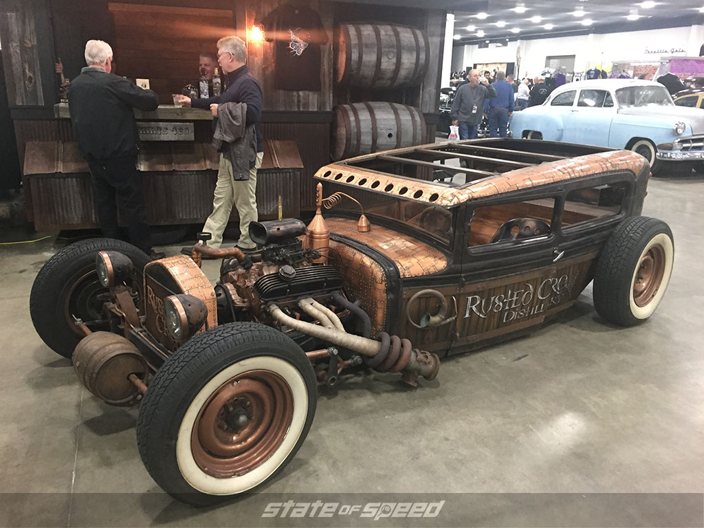 Rat rod at the auto show