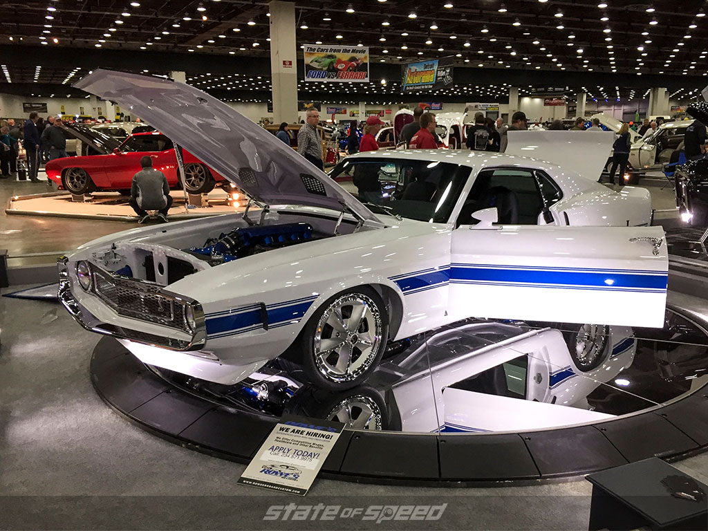 Classic muscle car at Detroit Autorama