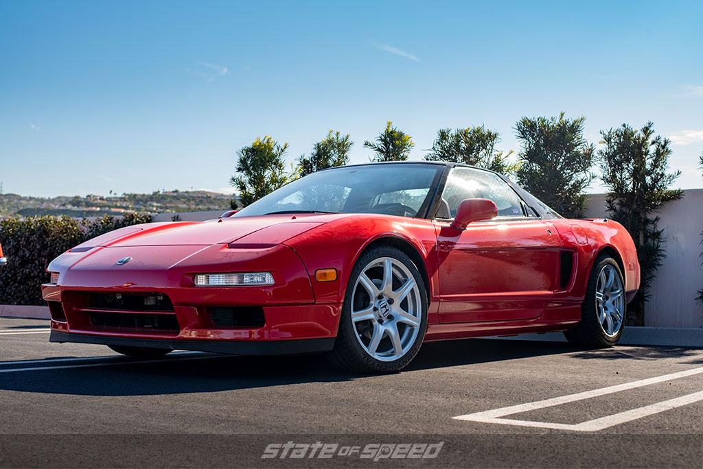 bone stock original red Acura NSX