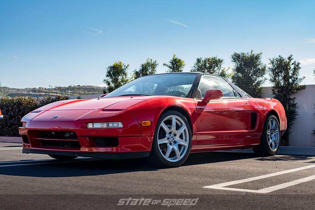 bone stock original red Acura NSX