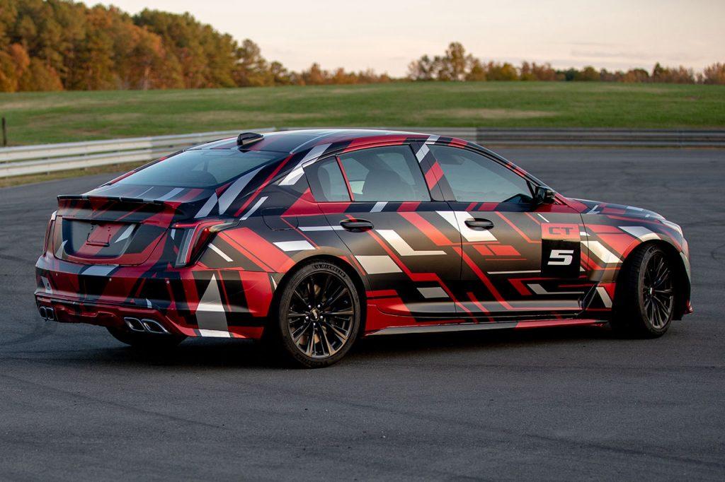 New Cadillac CT5-v Blackwing at the track