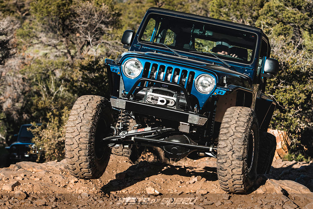 blue jeep lj rock crawling. One of the best offroad vehicles