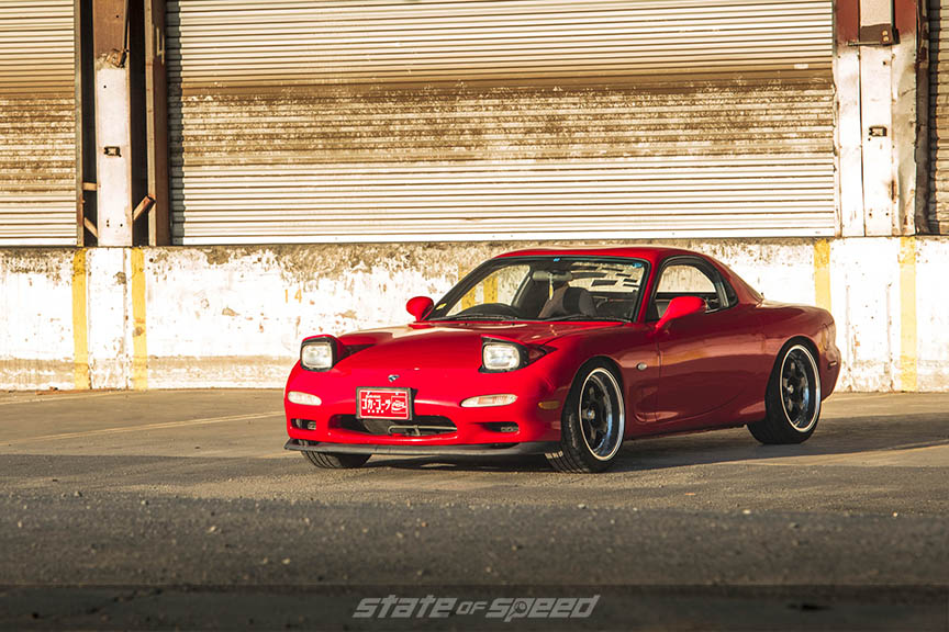 Red Rx7 milestar tires