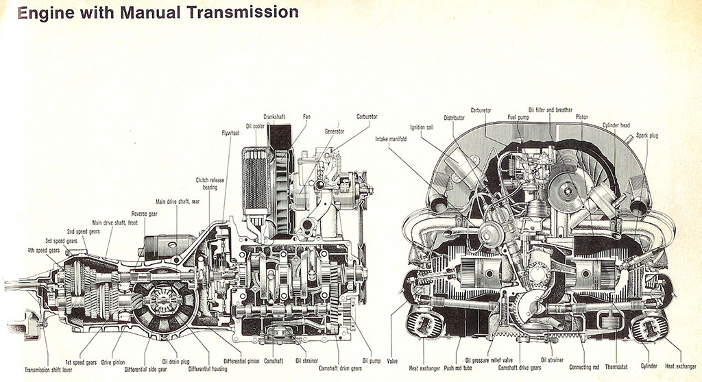 vw sedan engine diagram