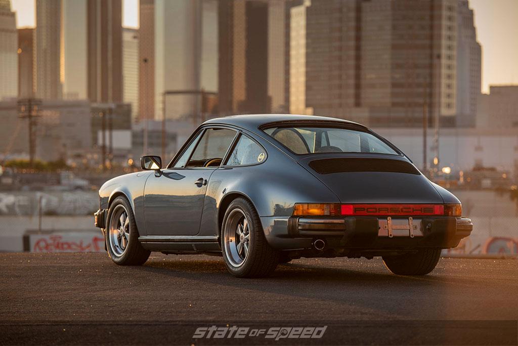 Porsche 911SC rear end in Los Angeles