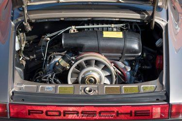 brown porsche 911C air cooled engine