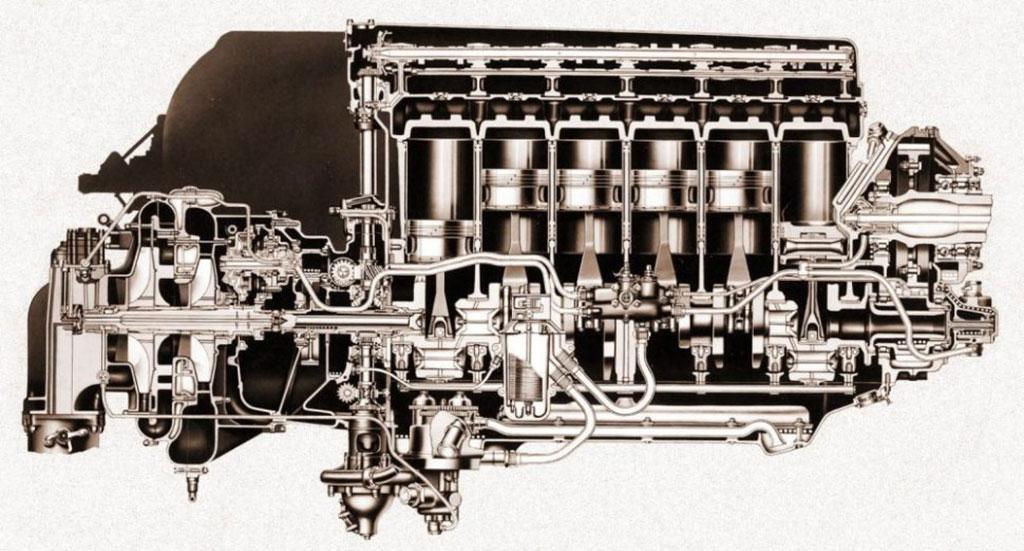 cutaway of the merlin engine
