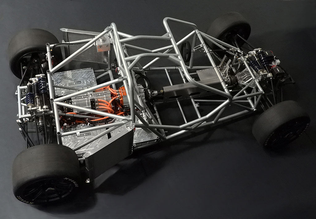 frame work of the electric race car