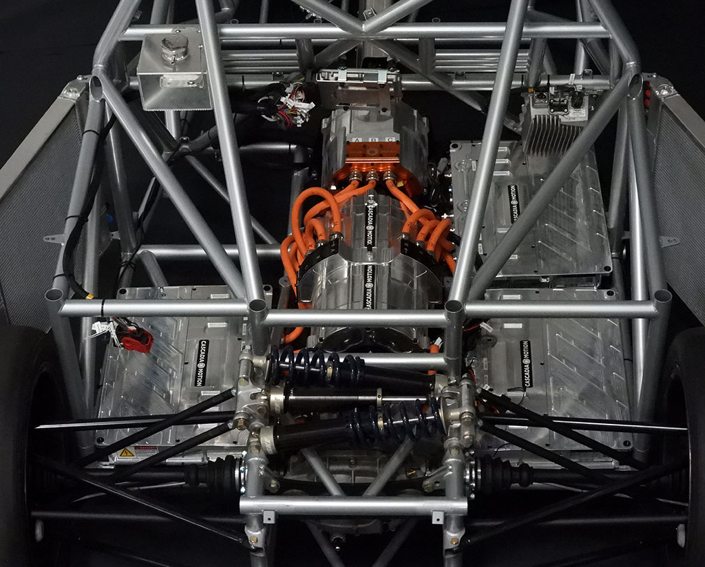 electric engine powering the race car