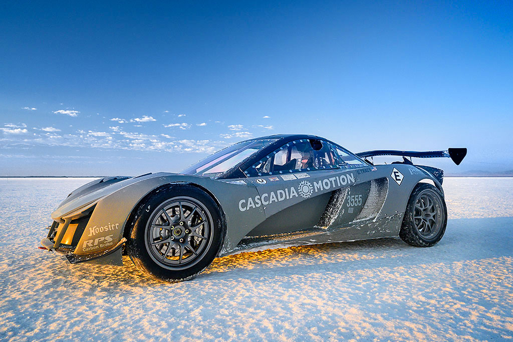 palatov electric race car at bonneville salt flats
