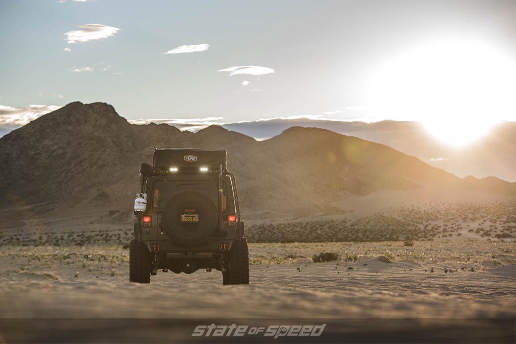 jeep jk in the sunset