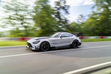 driving shot of 2021 GT Black Series
