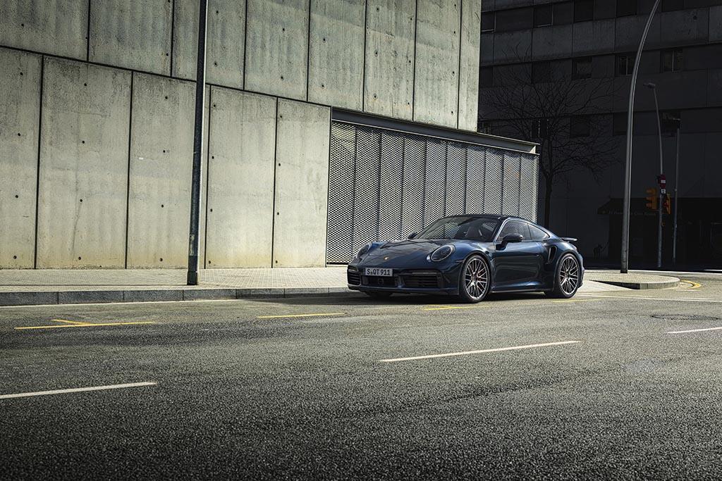 porsche 911 turbo on the street