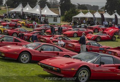 lots of ferraris