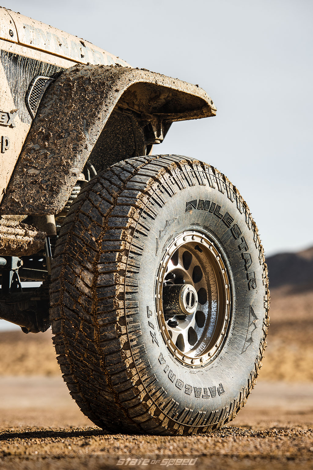 Tan Jeep JT Gladiator Codex with milestar patagonia xt offroad tires