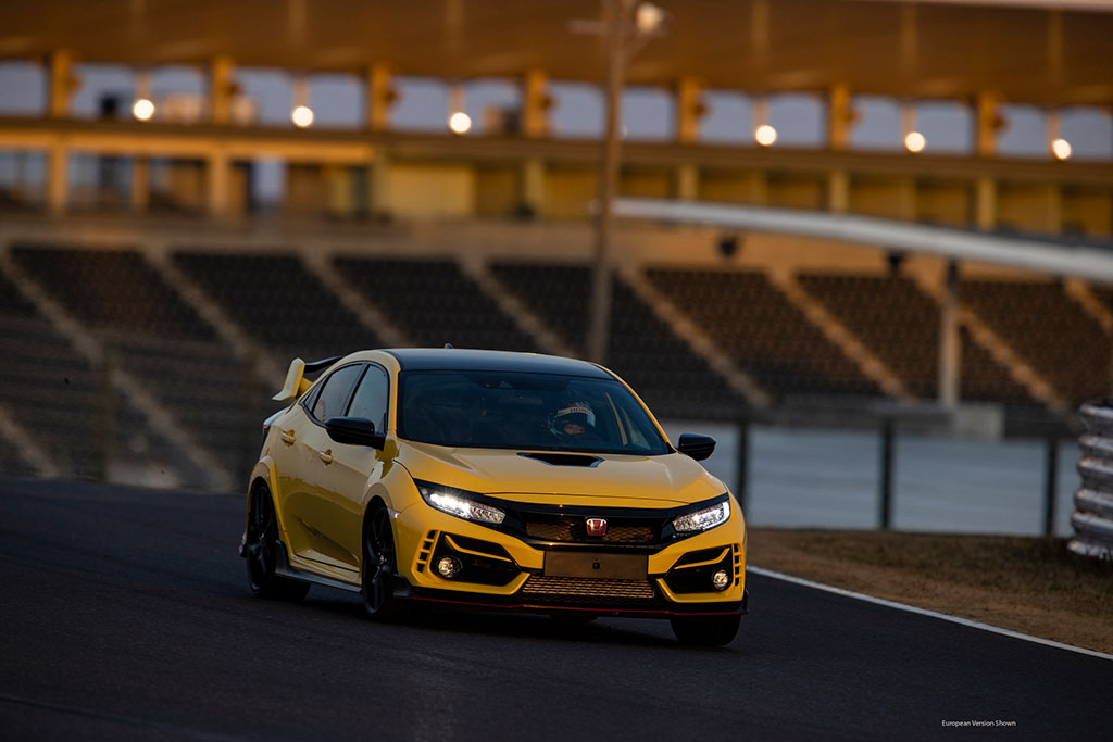 New Limited Edition Civic Type R in Phoenix Yellow at the Track